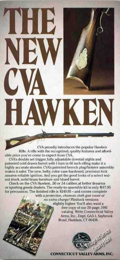 The New Cva Hawken Rifle Collectible Gun (1981)