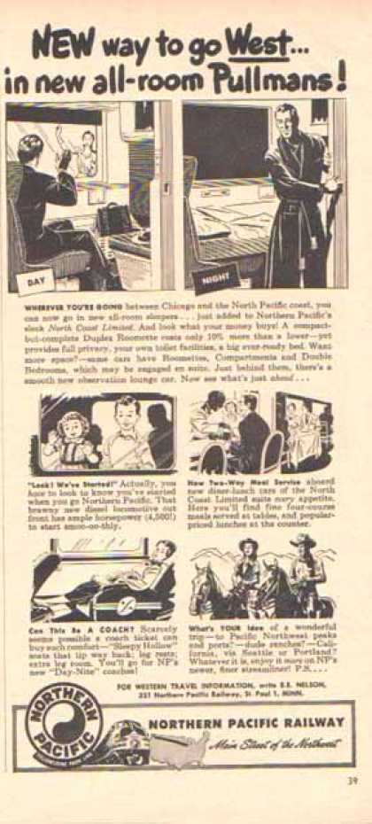Northern Pacific Railway Ad- Pullmans Day and Night (1948)