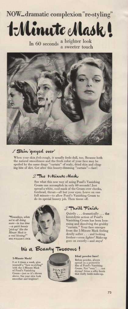 Ponds Minute Mask (1942)