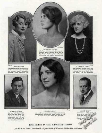 Notable Theater Artists of the Season Print Photos (1924)