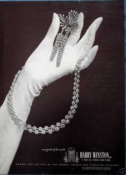 Harry Winston Jewels White Glove Necklace Pin (1948)