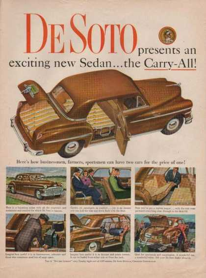 Desoto New Brown Sedan Car (1949)