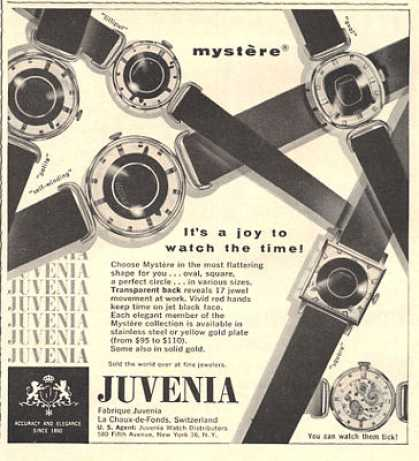 Juvenia Mystere Watch Print (1959)