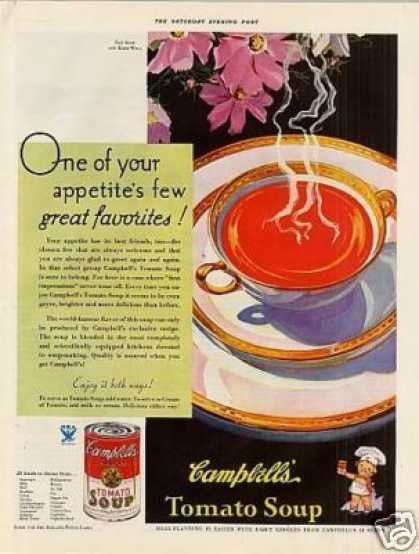 "Campbell's Tomato Soup Ad ""One of Our... (1933)"