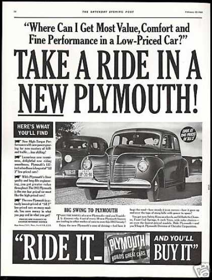 Plymouth Car 2 Dr Photo Vintage (1941)