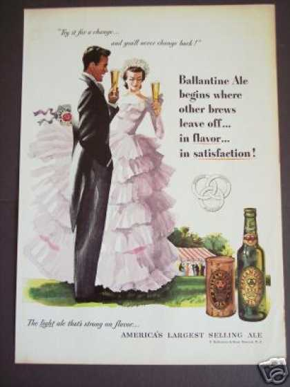 Ballantine Ale Formal Gown Art Original (1951)