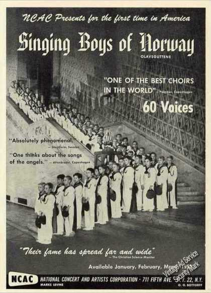 "Singing Boys of Norway ""Olavsguttene"" Photo (1951)"