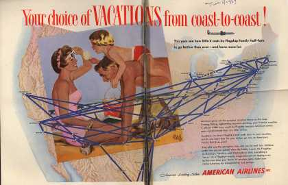 American Airlines – Your Choice of Vacations From Coast to Coast (1954)