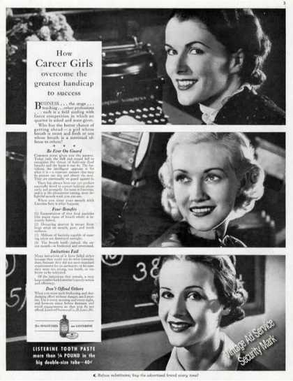Listerine Mouthwash Handicap To Success (1937)