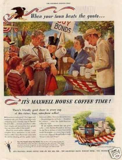 "Maxwell House Coffee Ad ""When Your Town... (1945)"
