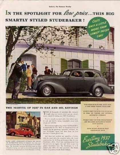 "Studebaker Car Color Ad ""In the Spotlight... (1937)"
