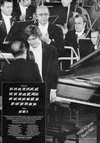 Steinway Piano for Concerts Photo (1974)