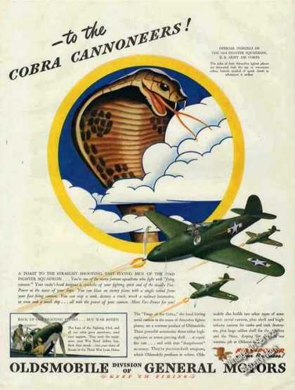 Cobra Cannoneer 93 Fighter Squadron Airacobra (1943)