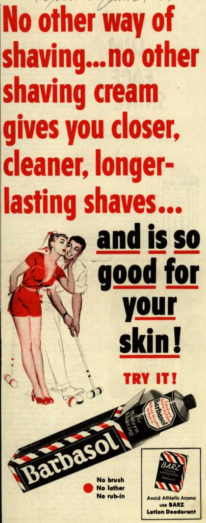 Barbasol – No other way of shaving... (1951)