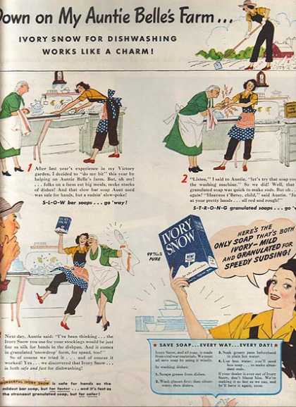 Ivory Snow's Dishwashing Soap (1944)