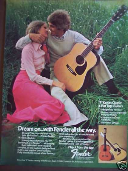 "Man & Woman With Fender ""F"" Series Guitar Music (1975)"