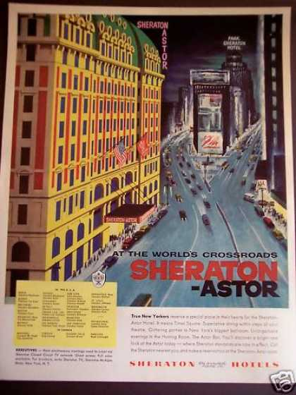 Sheraton-astor Hotel In New York (1956)