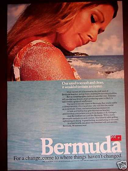 Bermuda Pretty Girl Photo Vacation Travel (1971)