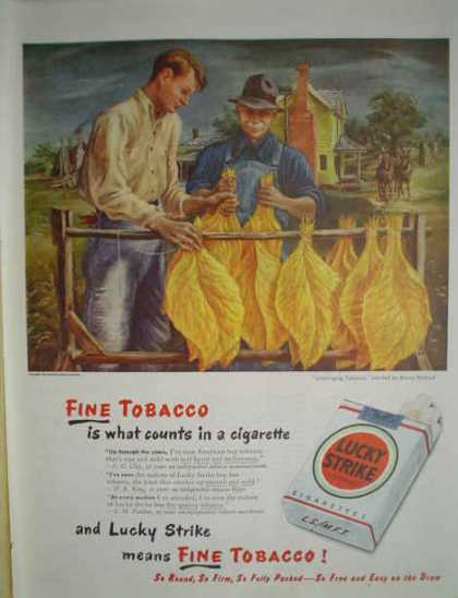 Lucky Strike Fine Tobacco Cigarettes Farm Theme (1947)