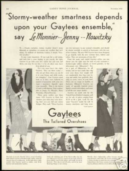 Gaytees Tailored Overshoes LeMonnier Nowitzky (1930)