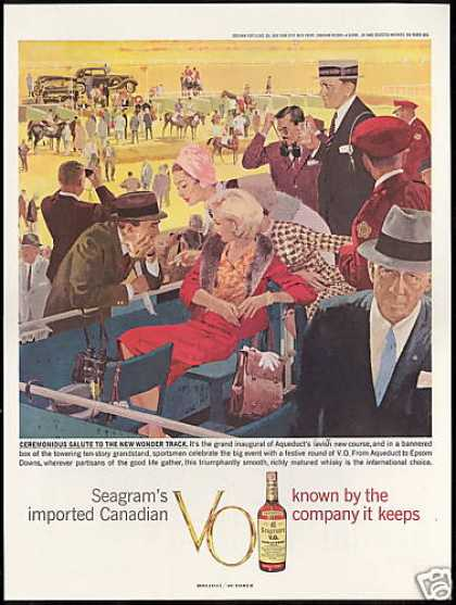 NY Aqueduct Horse Race Seagram's Whisky (1959)