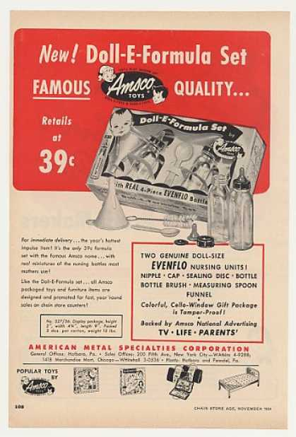 Amsco Toys Doll-E-Formula Set (1954)