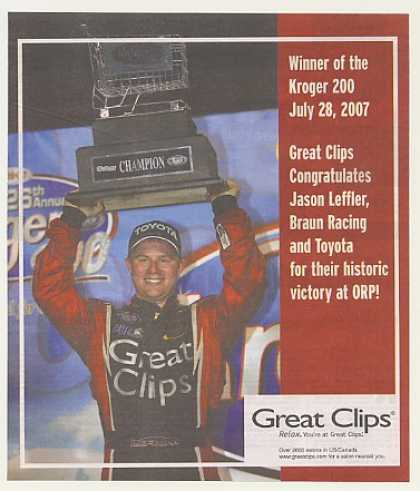 NASCAR Jason Leffler Kroger 200 Win Great Clips (2007)