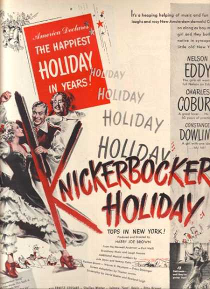 Knickerbocker Holiday (Nelson Eddy, Charles Coburn and Shelly Winter) (1944)