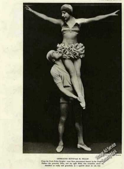 Germaine Mitti & M Tillio Dancing Photo Feature (1921)