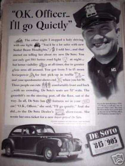 De Soto Car $845. Police Officer (1940)