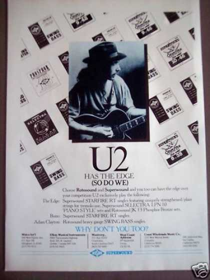 Rotosound & Superwound Guitar Strings U2 Music (1988)