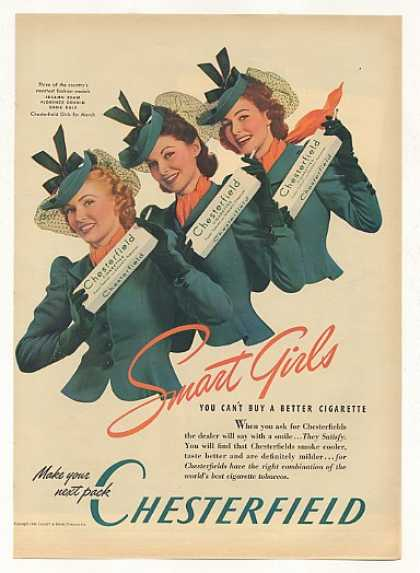 Fashion Models Chesterfield Cigarette Girls (1940)