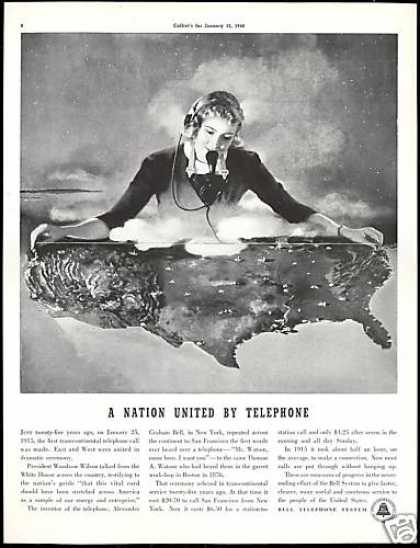 Bell Telephone System At&t Transcontinenta (1940)
