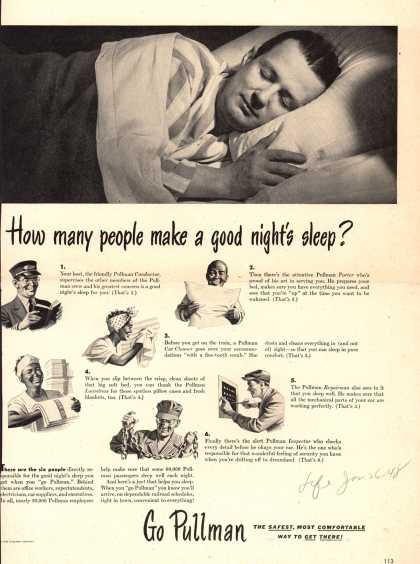 Pullman Company – How many people make a good night's sleep? (1948)