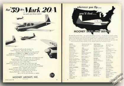 Mooney Mark 20a Photos & Dealer Locations (1959)