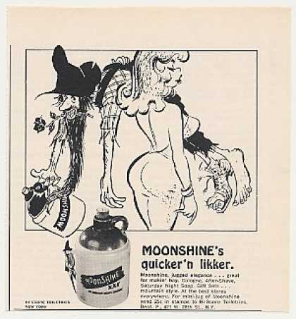 Moonshine Cologne Jug Girl Hillbilly art (1966)