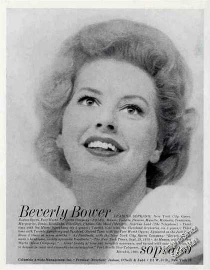 Beverly Bower Photo Soprano Opera (1960)