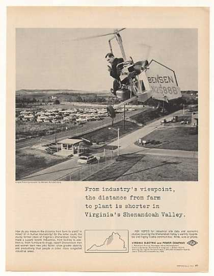 Bensen Gyrocopter VEPCO Shenandoah Valley Photo (1963)