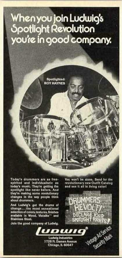 Roy Haynes Photo Ludwig Drums (1976)