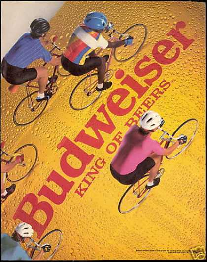 Bicycle Cyclist Photo Budweiser Beer Vintage (1987)
