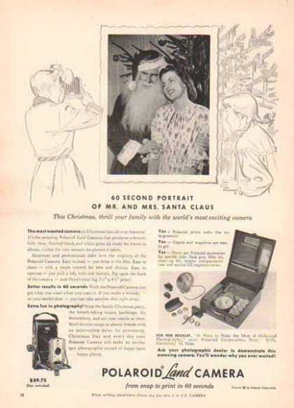 Polaroid Land Camera Christmas Camera – 60 second Portrait (1951)