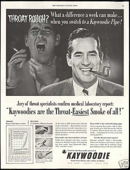 Kaywoodie Pipe Throat Specialists Confirm (1952)