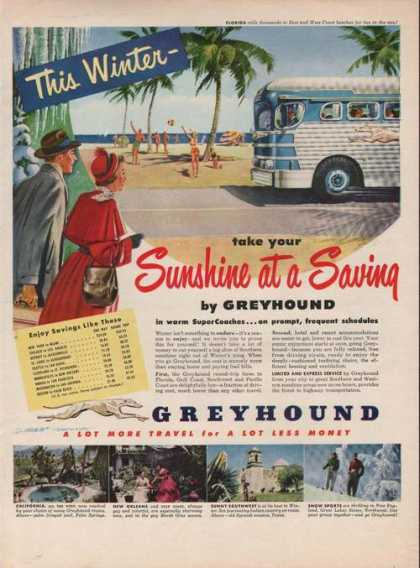 Greyhound Bus Sunshine Saving (1949)