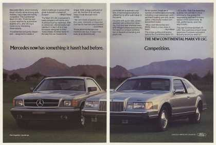 Lincoln Continental Mark VII LSC vs Mercedes 2P (1984)