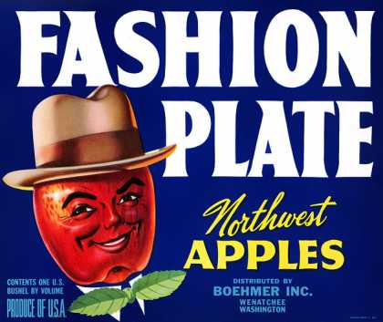 Fashion Plate Apples, c. s (1940)