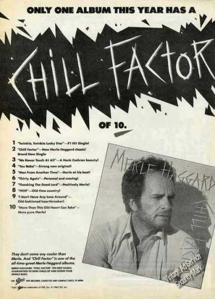 "Merle Haggard Photo ""Chill Factor"" Album Promo (1988)"