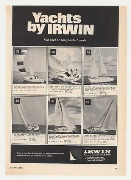 Irwin 23 25 28 32 38 43 Yachts Photo (1971)