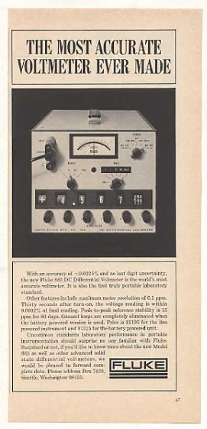 Fluke 885 DC Differential Voltmeter Photo (1966)
