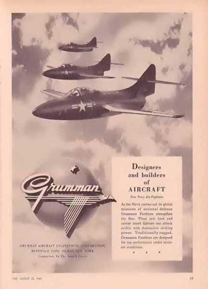 Grumman Aircraft – Three New Navy Jet Fighters (1949)