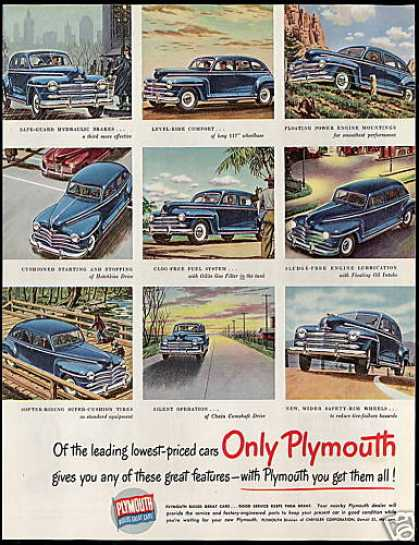 Plymouth Lowest Priced Car Great Features (1948)